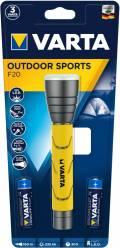 Varta Taschenlampe LED Outdoor Sports F20 inkl. 2x AA Batterien 18628
