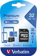 Verbatim Micro SDHC Karte 32GB Speicherkarte Premium UHS-I Class 10