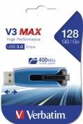 Verbatim USB Stick 128GB Speicherstick Store 'n' Go V3 Max blau USB 3.0 Restposten