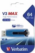 Verbatim USB Stick 64GB Speicherstick Store 'n' Go V3 Max blau USB 3.0