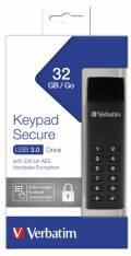 Verbatim USB Stick 32GB Speicherstick Keypad Secure AES 256 Bit schwarz USB 3.0
