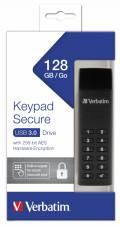 Verbatim USB Stick 128GB Speicherstick Keypad Secure AES 256 Bit schwarz USB 3.0