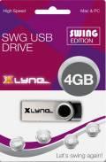 Xlyne USB Stick 4GB Speicherstick SWG schwarz
