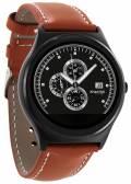 Xlyne Pro Smartwatch X-Watch Qin XW Prime II Black ultraflat Android IOS cognac light brown B-WARE