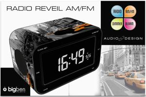 Bigben Radiowecker RR30 New York Taxi dimmbares Display FM Radio AU301373