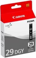 Canon Druckerpatrone Tinte PGI-29 DGY dark grey, dunkelgrau