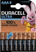 8 Duracell Ultra Power AAA / Micro / MX2400 Alkaline Batterien im 8er Blister