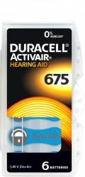 6 Duracell Activair Typ 675 / DA 675 Zink-Luft Hörgerätebatterien im 6er Blister