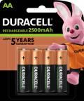 4 Duracell Akku AA 2500mAh Nickel-Metall-Hydrid im 4er Blister