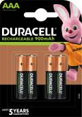 4 Duracell Akku AAA 850mAh Stay Charged Nickel-Metall-Hydrid im 4er Blister