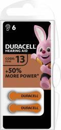6 Duracell Easytab Typ 13 / DA 13 Zink-Luft Hörgerätebatterien im 6er Blister