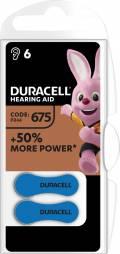 6 Duracell Easytab Typ 675 / DA 675 Zink-Luft Hörgerätebatterien im 6er Blister