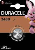 1 Duracell CR 2430 / DL 2430 Lithium Knopfzelle Batterie Blister