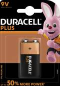 1 Duracell Plus Power 9V Block / MN1604 Alkaline Batterie Blister