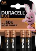 4 Duracell Plus Power AA / Mignon / MN1500 Alkaline Batterien im 4er Blister