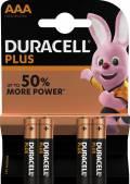 4 Duracell Plus Power AAA / Micro / MN2400 Alkaline Batterien im 4er Blister