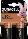 2 Duracell Plus Power C / Baby / MN1400 Alkaline Batterien im 2er Blister