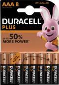 8 Duracell Plus Power AAA / Micro / MN2400 Alkaline Batterien im 8er Blister