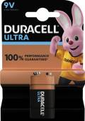 1 Duracell Ultra Power 9V Block / MX1604 Alkaline Batterie Blister