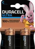 2 Duracell Ultra Power C / Baby / MX1400 Alkaline Batterien im 2er Blister