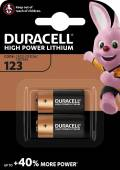 2 Duracell Ultra Photo CR123A / DL123A / CR123 / Lithium Batterien im 2er Blister