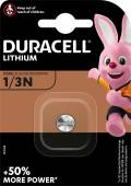 1 Duracell Ultra Photo CR 1/3 N / DL1/3N Lithium Batterie Blister