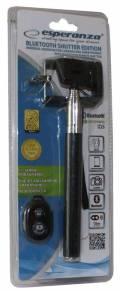Esperanza Bluetooth Selfie Stick für Smartphone ANDROID / IOS mit Fernbedienung EMM117