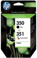 2 HP Druckerpatronen Tinte Nr. 350 BK / Nr. 351 tri-color Multipack