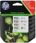 4 HP Druckerpatronen Tinte Nr. 932 XL BK / Nr. 933 XL C / M / Y Multipack