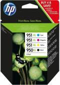 4 HP Druckerpatronen Tinte Nr. 950 XL BK / Nr. 951 XL C / M / Y Multipack
