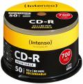 100 Intenso Rohlinge CD-R full printable 80Min 700MB 52x Spindel