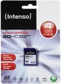 Intenso SDHC Karte 4GB Speicherkarte Class 10
