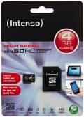 Intenso Micro SDHC Karte 4GB Speicherkarte Class 10