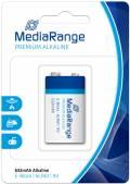 1 Mediarange Premium 9V Block Alkaline Batterie Blister