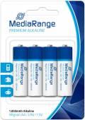 4 Mediarange Premium AA / Mignon Alkaline Batterien im 4er Blister
