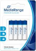 4 Mediarange Premium AAA / Micro Alkaline Batterien im 4er Blister