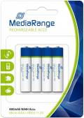 4 Mediarange Akku AAA 800mAh Nickel-Metall-Hydrid im 4er Blister