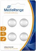 4 Mediarange CR 2032 Lithium Knopfzelle Batterien im 4er Blister