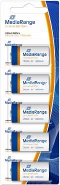 5 Mediarange CR123A Lithium Batterien im 5er Blister