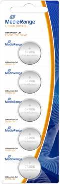 5 Mediarange CR 2016 Lithium Knopfzelle Batterien im 5er Blister