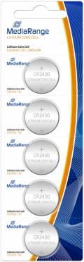 5 Mediarange CR 2430 Lithium Knopfzelle Batterien im 5er Blister