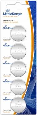 5 Mediarange CR 2450 Lithium Knopfzelle Batterien im 5er Blister