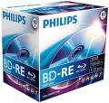 10 Philips Rohlinge Blu-Ray BD-RE 25GB 2x Jewelcase