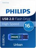 Philips USB Stick 16GB Speicherstick Urban Edition blau transparent