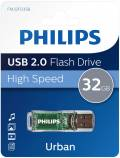 Philips USB Stick 32GB Speicherstick Urban Edition grau transparent