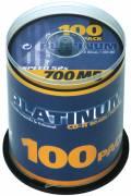 100 Platinum Rohlinge CD-R 80Min 700MB 52x Spindel