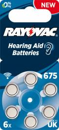 6 Rayovac 4600 Retail Typ 675 Zink-Luft Hörgerätebatterien im 6er Blister