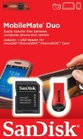 Sandisk SDHC und USB Adapter für Micro SD / Micro SDHC Speicherkarten