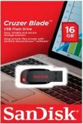 Sandisk USB Stick 16GB Speicherstick Cruzer Blade schwarz