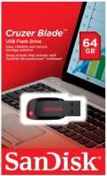 Sandisk USB Stick 64GB Speicherstick Cruzer Blade schwarz